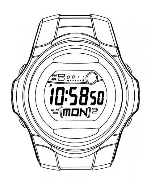 Dibujos De Relojes. Grabado En Madera Reloj De Bolsillo. Oficiales ...