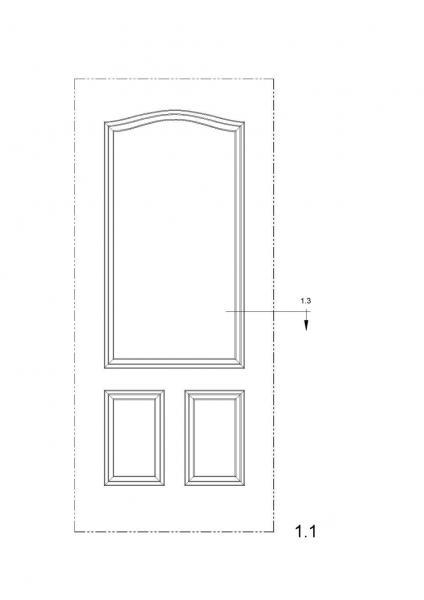 Puertas paneles de puerta v2 for Paneles de aluminio para puertas