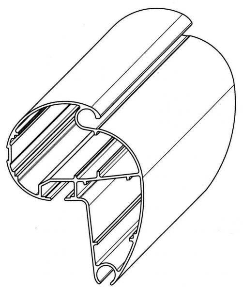 Perfiles para barras de cargas de toldos enrollables for Barras de aluminio para toldos