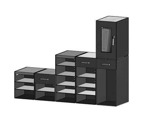 Muebles para guardar muebles con compartimentos armarios - Armarios almacenaje ...