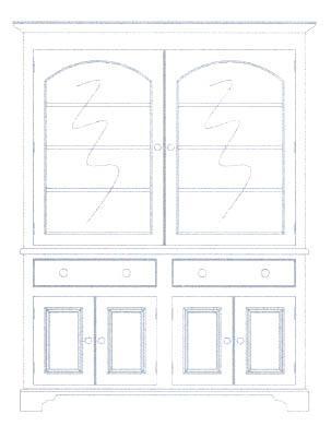 Muebles para almacenaje aparador para la vajilla vitrinas muebles v2 - Vitrinas para vajillas ...