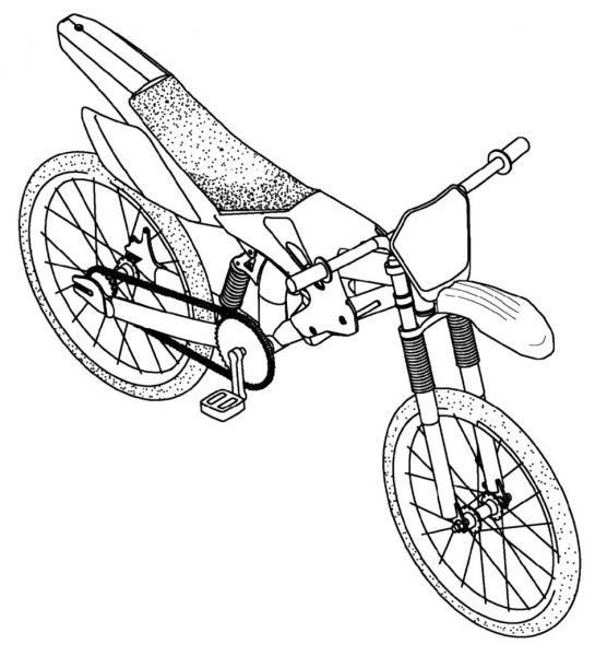 Dibujo de Bicicleta para Colorear - Dibujos de Vehículos