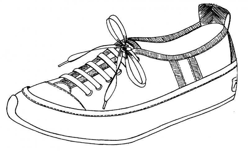Dibujo zapatillas deportivas - Imagui