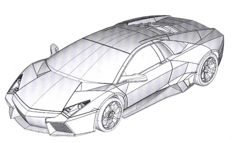Dibujo De Hot Wheels Lamborghini Gallardo Para Colorear « Wizz Core