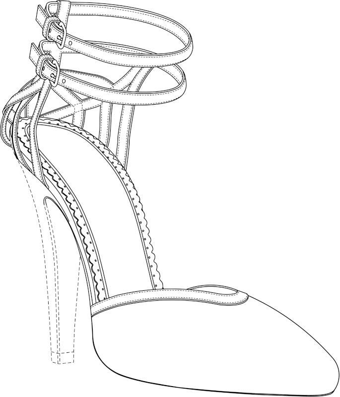 Dibujo De Un Zapato De Tacon Imagui